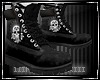 ♠Black Skull Boots M
