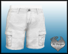 Men's  White Cargo Short
