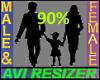 90% smaller avi
