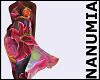 flower transparent dress