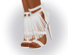White Tassle Heels