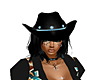 Black / Turquoise Hat