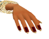 dainty hands red gold