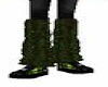 Green Corded Leg Warmers