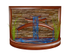 wood/brick koi fountain