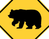 Beware Bear Sign