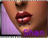 black 3 lip peircing