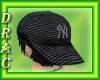 D| NY black cap w/ hair