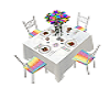 Rainbow Wed Guest Table