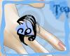 {Tea}PaleBlue Heart Ring