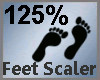 Feet Scaler 125% M
