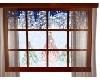 animated window w/snow