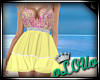 .L. Mermaid Dress Yellow