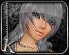 [K] Silver Kira Hair