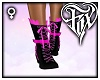 Bow Lace Boots - Pink