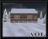 Winter Cabin Decorated