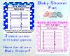 Baby Shower games set 2