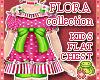 ! FLORA Pink Kids Dress