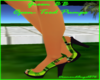 Green BB Open-Toed Pumps
