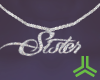 """Silver """"Sister"""" Necklace"""