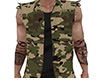 Sleeveless Camo Jacket M