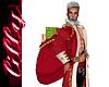 Santa red velvet sack