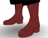 ~LG~ RED LEATHER BOOTS