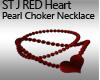 ST J RED HEART CHOKER