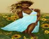 Teal Sunflower Dress
