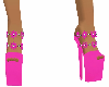 Pink Flowered Platforms