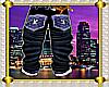 lv blue checker jeans