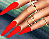 Red - Rouge Nails Gold