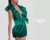 Ruffled mini green