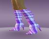 purple panel heel boots
