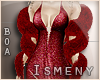 [Is] Fur Arms Boa Red