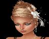 Blonde Fade Updo w/Flowe