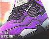 Air Retro 4  Purple