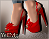 [Y] Rose red pumps