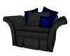 Blue Snake Skin chair