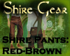 Shire Pants RedBrown