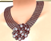 Maroon necklace