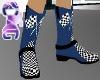 *CTG* Nascar Blue Boots