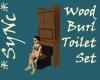 *Sync Wood Burl Toilet