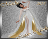 !a NY White n Gold Gown