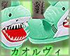 Sharks! Slippers M-Green