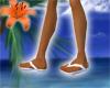 Flip Flops! White