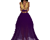 purple/gold gown