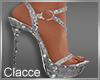C silver Nye heels