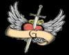 G heart tatoo