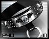 -P- Studs Skull Collar M